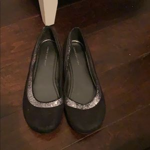 Shoes - Blank ballet flats with glitter sparkle
